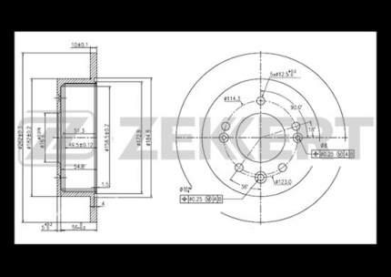Тормозной диск ZEKKERT BS-5271