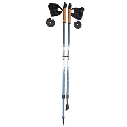Палки для скандинавской ходьбы NordicStep Ultra Carbon, серый, 100-135 см