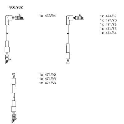 Комплект проводов зажигания BREMI 300/762