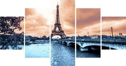 """Картина по номерам Paintboy """"Вечер в Париже"""", модульная"""