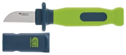 Нож электрика с чехлом, обрезиненная рукоятка, 197 мм, лезвие - 50 мм// СИБРТЕХ