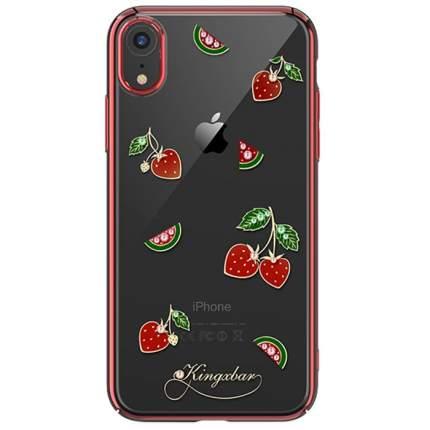 Чехол с Swarovski Kingxbar Tropical Series для iPhone XR Strawberry
