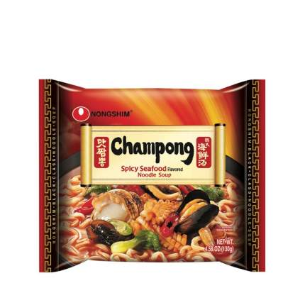 Лапша быстрого приготовления Чампонг с морепродуктами Nongshim пачка 130 г