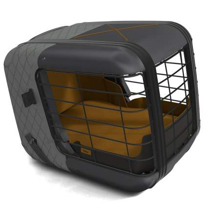 Автобокс 4PETS Caree SmokedPearl для собак до 8кг крепление ISOFIX, 57х46,5х47,5см