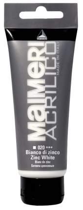Акриловая краска Maimeri Acrilico M0916020 белила цинковые 75 мл