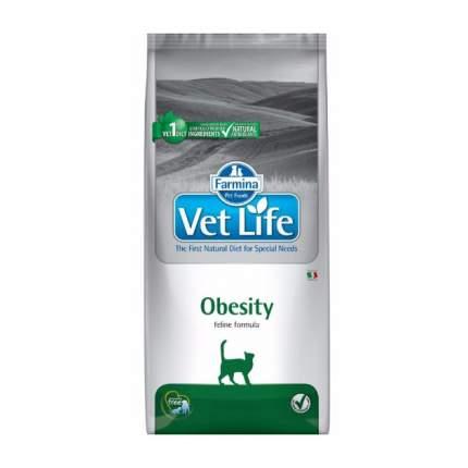 Сухой корм для кошек Farmina Vet Life Obesity, для снижения лишнего веса, курица, 10кг