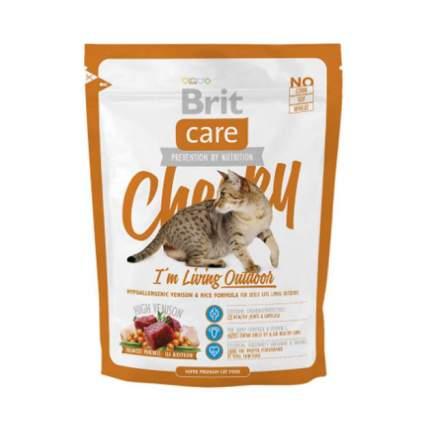 Сухой корм для кошек Brit Care Cheeky Outdoor, для активных уличных, оленина и рис, 0,4кг