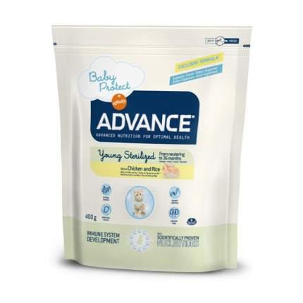 Сухой корм для котят Advance Young Sterilized для стерилизованных до 3 лет, курица, 0,4кг
