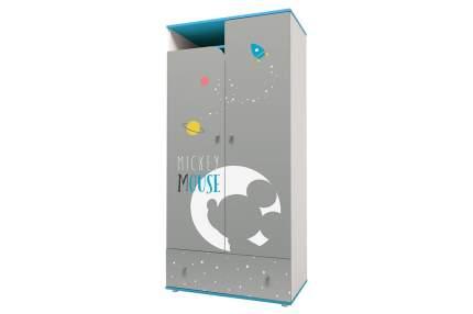 Детский шкаф двухсекционный Polini Kids Disney Baby «Микки Маус» Белый/Серый
