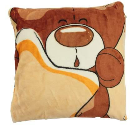 Подушка с наволочкой на молнии (декорат.) 40*40 см (велсофт;синтепух)