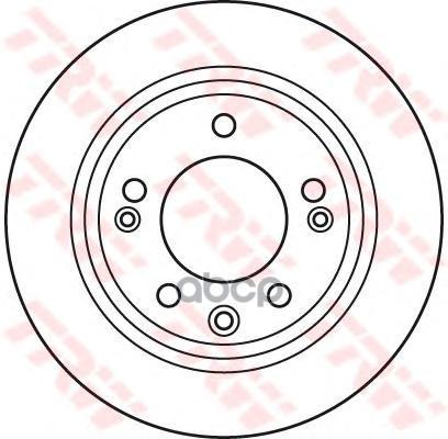 Тормозной диск TRW/Lucas DF6123 задний