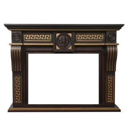 Деревянный портал для камина Electrolux Vittoriano 26/30 Тёмный дуб с золотой патиной