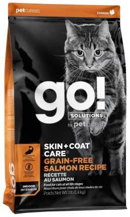 Сухой корм для кошек и котят GO! Skin + Coat, лосось, 1,36кг