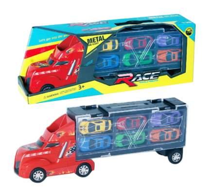 Набор транспортный Автовоз в комплекте с металлическими машинками LA-010