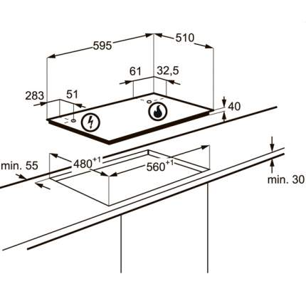 Встраиваемая варочная панель газовая Electrolux GME363XX Silver
