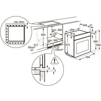 Встраиваемый газовый духовой шкаф Zanussi ZOG511211X Silver