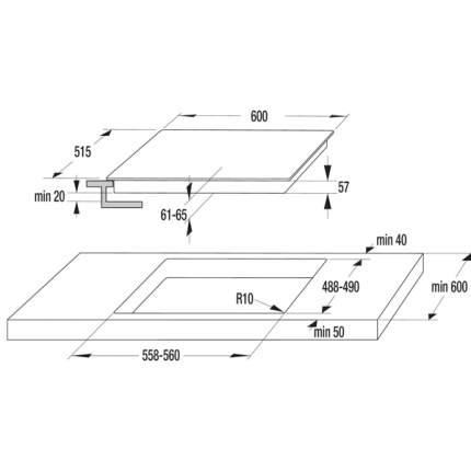 Встраиваемая варочная панель индукционная Gorenje IT63INB Black