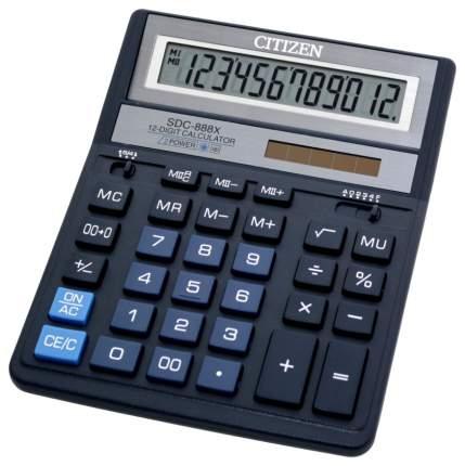 Калькулятор CiTiZEN SDC-888XBL Синий, черный