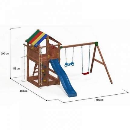 Игровой комплекс Paremo Домик с тентом и скалолазной доской
