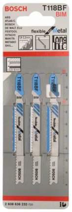 Набор пилок для лобзика Bosch T 118 BF, BIM 2608636232