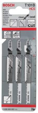 Набор пилок для лобзика Bosch T 101 B, HCS 2608630557