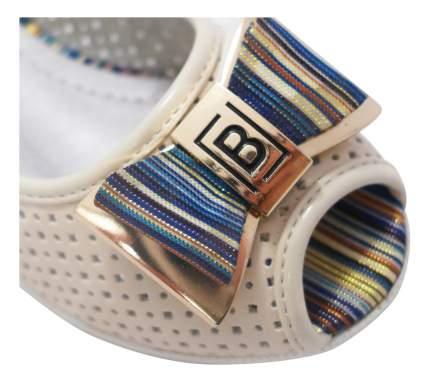 Туфли детские Dummi с открытым носом Бантик бежевые р.33