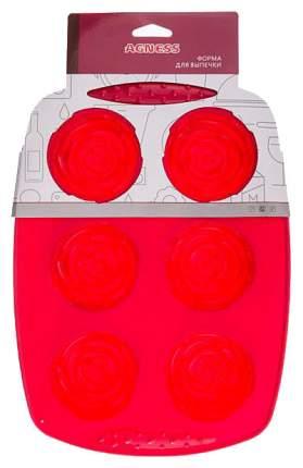 Форма для выпечки Agness 710-312 Красный