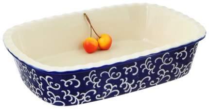 Форма керамическая ТМ Appetite прямоугольная 30х22х7,5 см, Синий