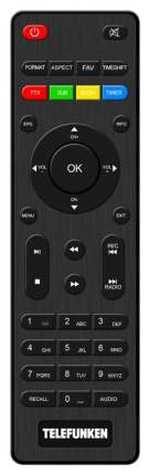 DVB-T2 приставка Telefunken TF-DVBT221 Black