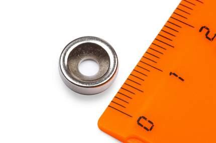 Неодимовый магнит Forceberg диск 10х3 мм с зенковкой 3.5/7, 10шт