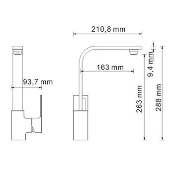Смеситель для кухонной мойки WasserKRAFT Alme 1507