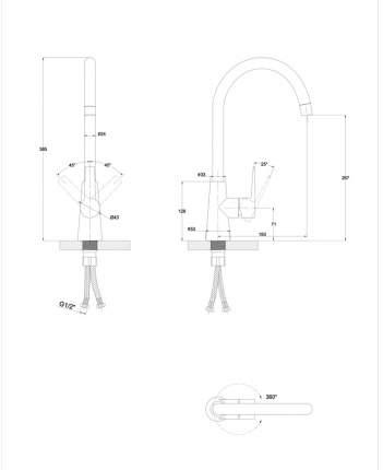 Смеситель для кухонной мойки Paulmark Ho212065-428