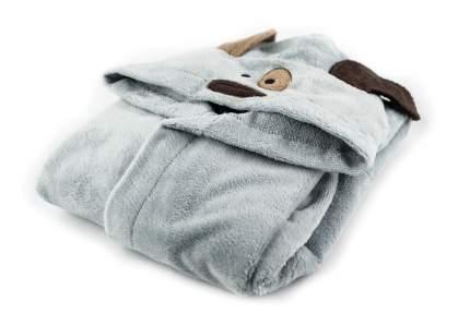 Детский бамбуковый халат Peche Monnaie Doggy 9 серый, 4 года