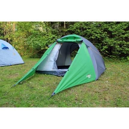 Палатка Campack-Tent Forest Explorer трехместная зеленая/желтая