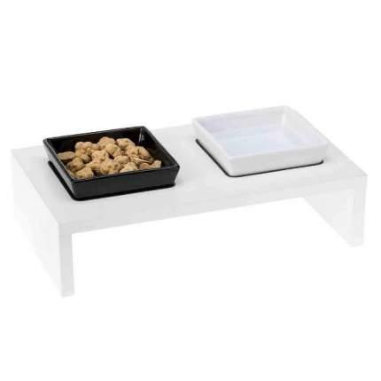 Одинарная миска для грызуны, кошки, собаки Ferplast, керамика, белый, 0.5 л