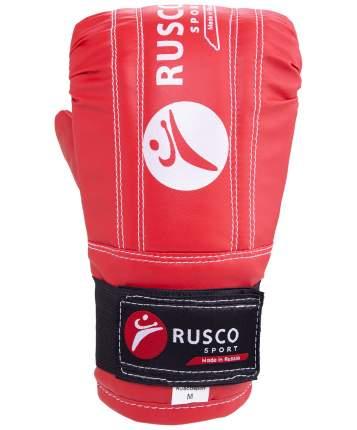 Перчатки снарядные Rusco Sport, кожзам, красно-сине-черный (S)