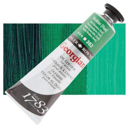 Масляная краска Daler Rowney Georgian виридоновый зеленый 75 мл