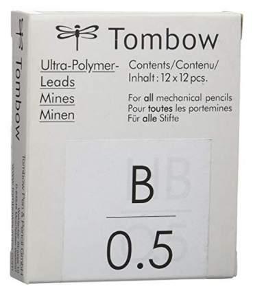 """Грифели для механических карандашей Tombow """"Mono"""", 0,5 мм, B, 12 штук"""