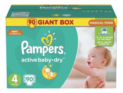 Подгузники Pampers Active Baby-Dry 4 (8-14 кг), 90 шт.