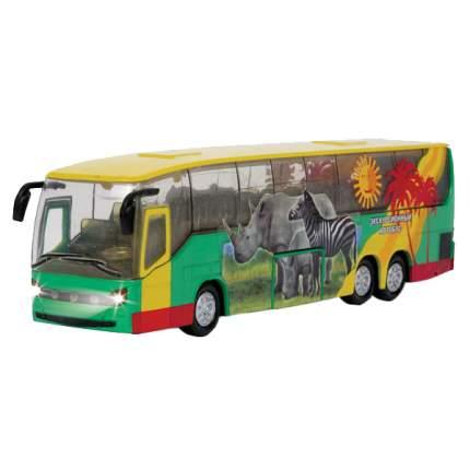 Автобус Технопарк инерционный, металлический со светом и звуком 16 см