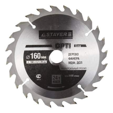 Диск по дереву для дисковых пил Stayer 3681-160-20-24