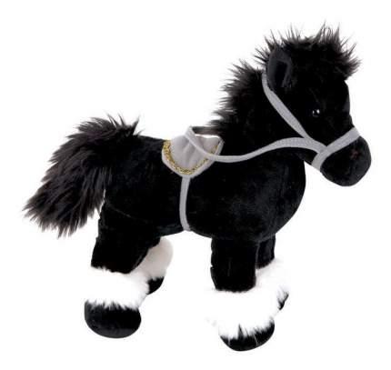 Мягкая игрушка Gulliver Лошадка стоячая, черная 20 см