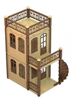 Домик для кукол замок принцессы 2 этажа беж