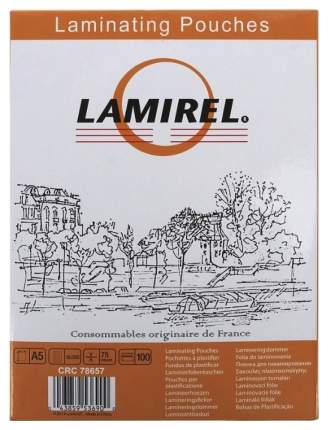 Пленка для ламинирования Fellowes Lamirel LA-7865701/CRC-78657 А5 75мкм 100 шт.