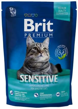 Сухой корм для кошек Brit Premium Sensitive, ягненок, 0,3кг