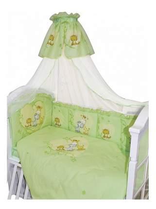 комплект в кроватку Золотой гусь Сафари 7 предметов зеленый