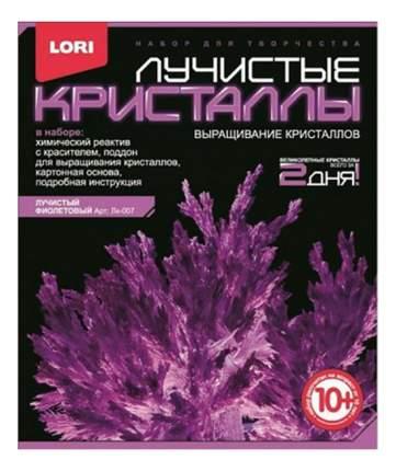 Набор для выращивания кристаллов Lori Лучистые Кристаллы фиолетовый