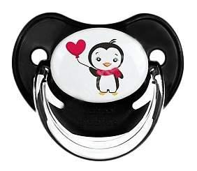 Силиконовая пустышка анатомическая Canpol Penguin 18+ Мес 22/590 Цвет Черный