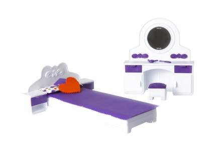 Мебель для кукольного дома спальня огонек конфетти