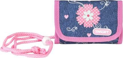 Кошелек Target Джинсовые цветы 17954 Синий, розовый